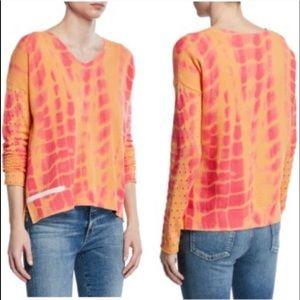 """Lisa Todd Mango/Tango/Pink """"To Dye For"""" sweater Lg"""